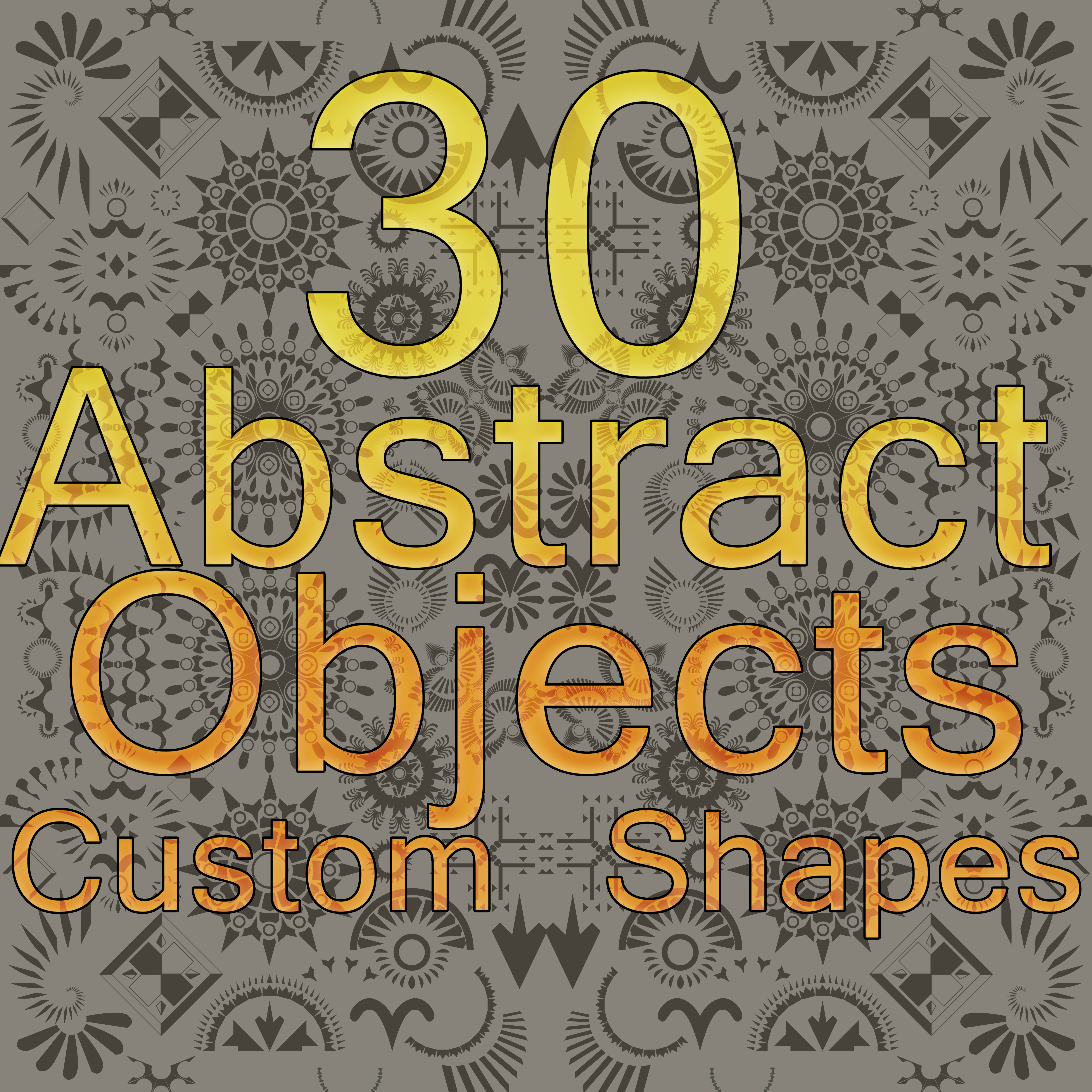 30 Abstract Objects Custom Shapes Pack by WorldMadness