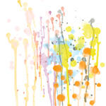 Watercolours splat