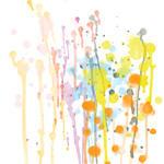 Watercolours splat