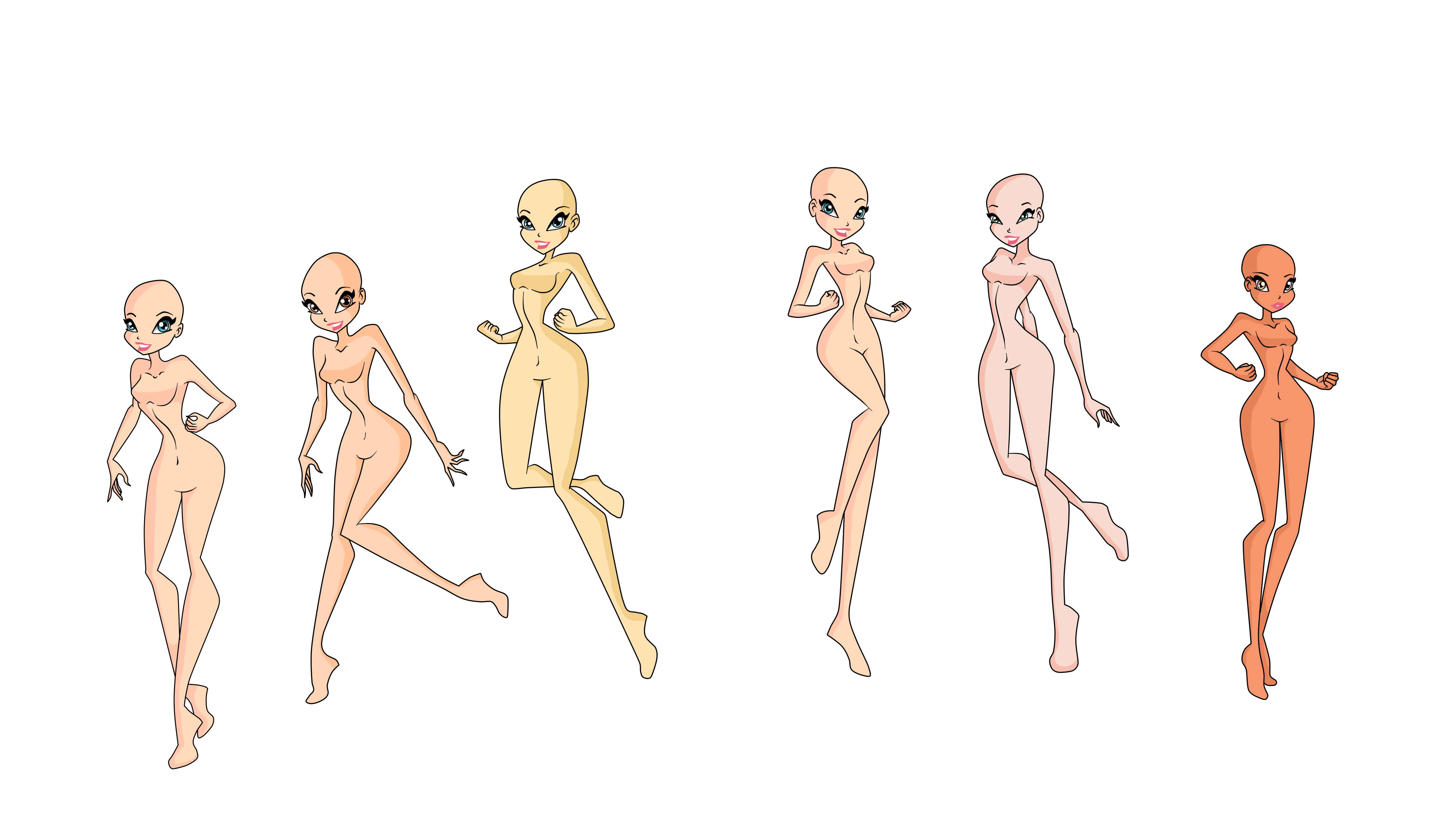 Base, nude woman character art transparent background png clipart