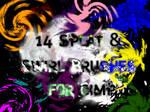 Splat + Swirl brushes for gimp
