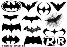 14 Hi-Def Batman Universe Themed Brushes by Nick004