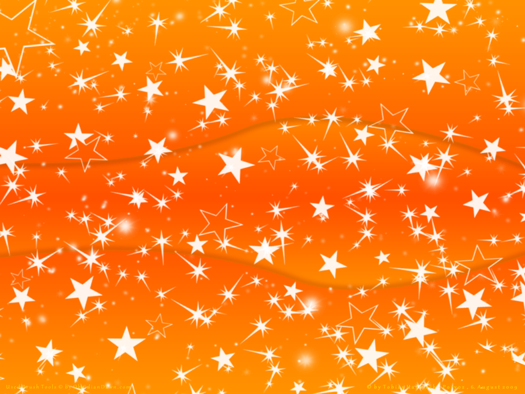 Orange Stars Wallpaper By Poronyos Ii On Deviantart