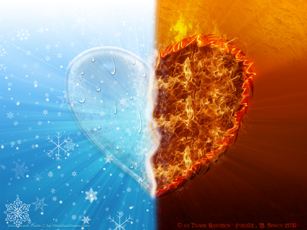 fire and ice heart - photo #7