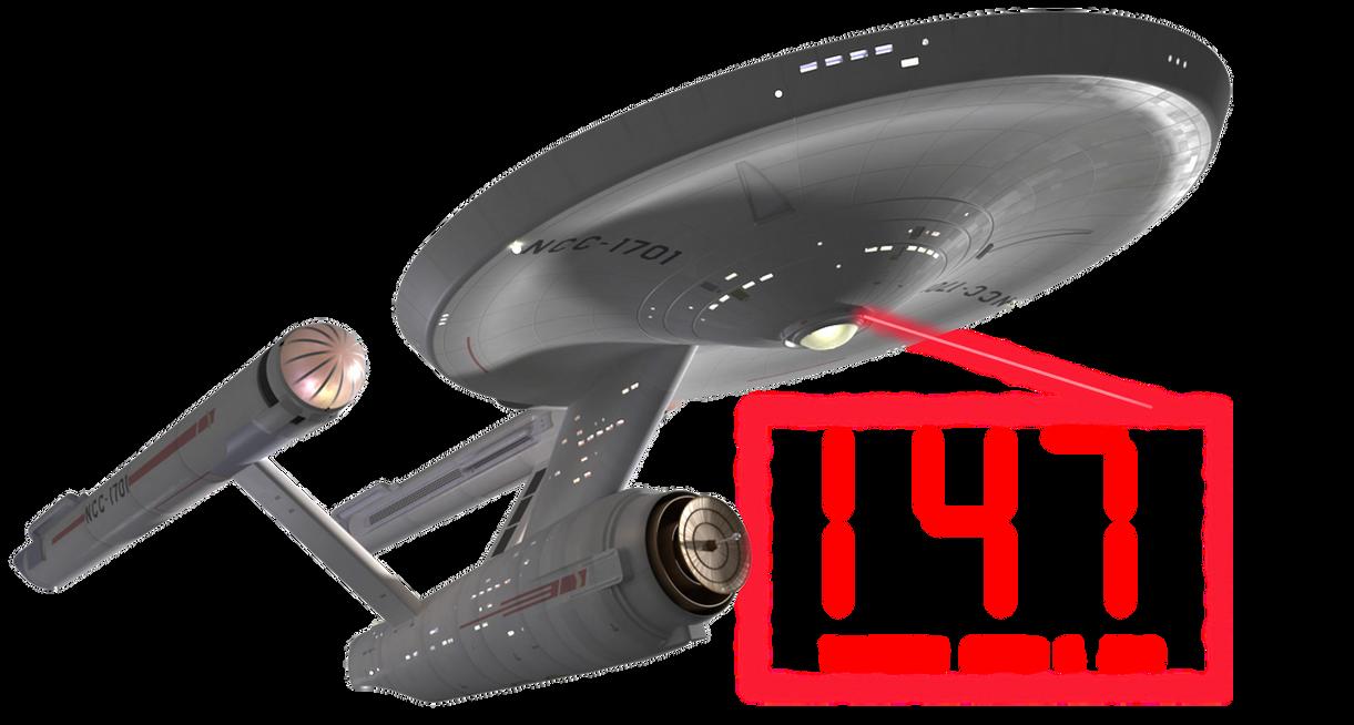 Star Trek Enterprise Clock by DJDale69