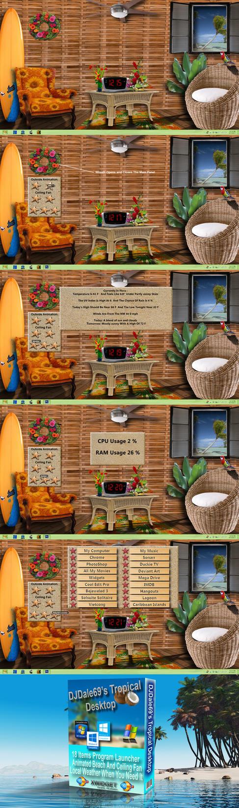 1366x768Tropical Desktop by DJDale69