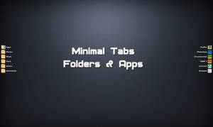 Minimal Folders+Apps Tabs For XWidget