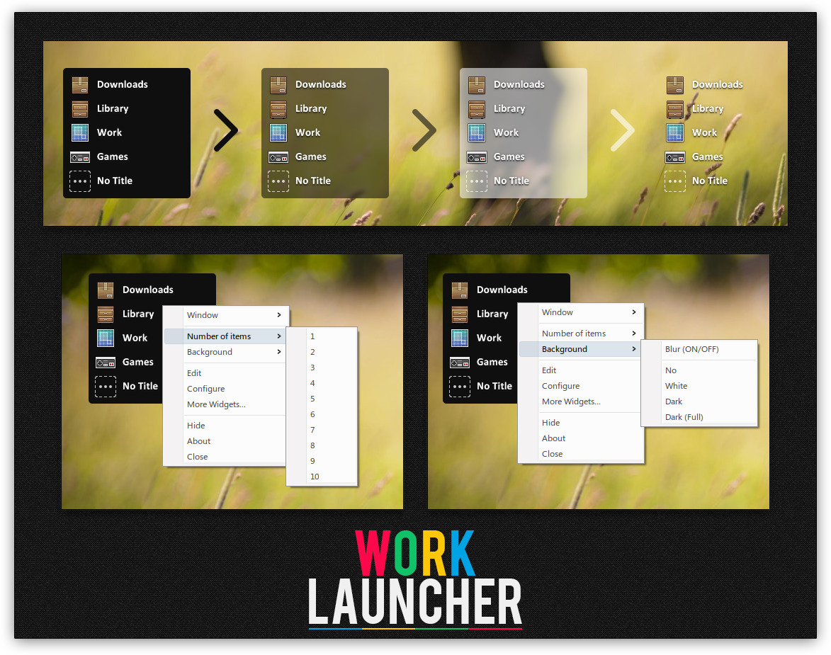 XWidget: Work Launcher by Kamaz-Z
