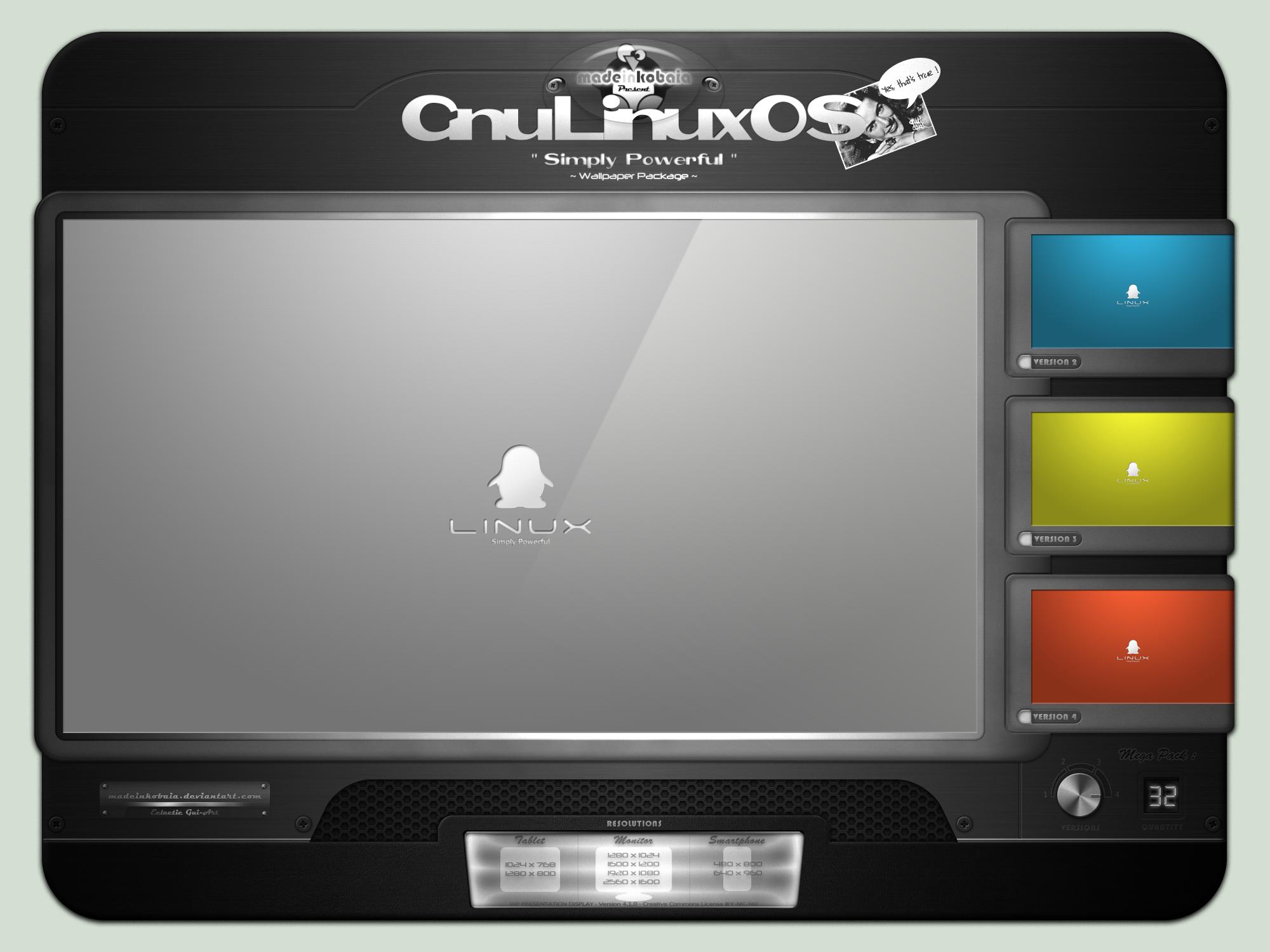 Gnu-Linux OS : Simply Powerful by MadeInKobaia