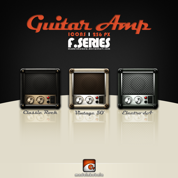 Guitar Amplifier Icons (F-Series) by MadeInKobaia