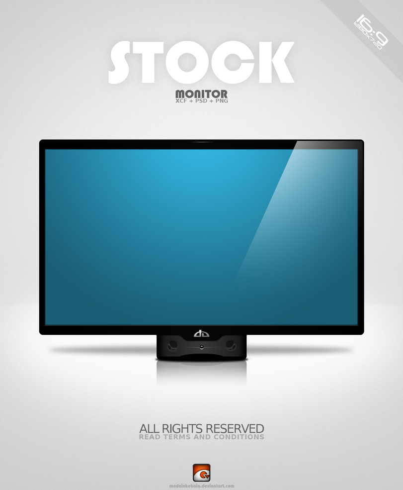 Free Stock Monitor : XCF  + PSD + PNG by MadeInKobaia