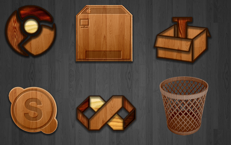 Wood icons by teroleg