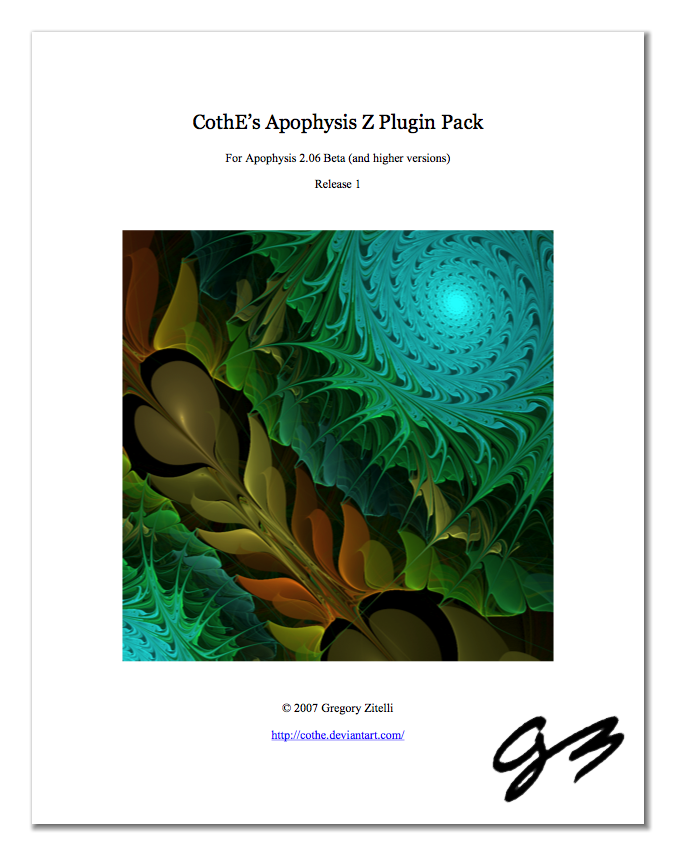 Apophysis Z Plugin Pack by cothe