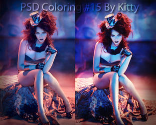 PSD Coloring #15 By Kitty by ByKitty