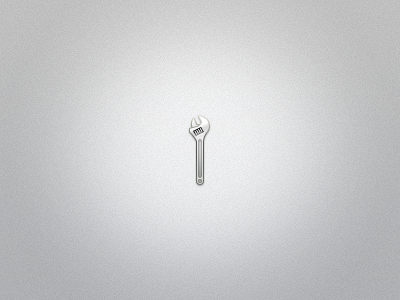 Spanner Icon PSD by Ashung