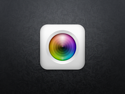 two layers camera app icon psd