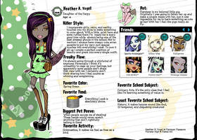 Monster High OC: Heather A. Vogel by MarzipanMassacre