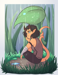 Tiny Tief or Big Leaf by SafirasArt