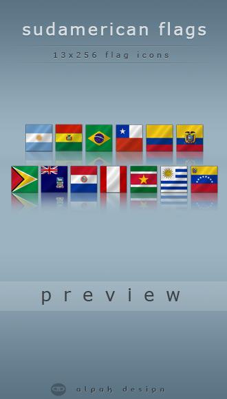 Sud American Flags