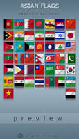 Asian Flags by alpak