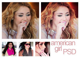 Psd american girl. by MyloveRobsten