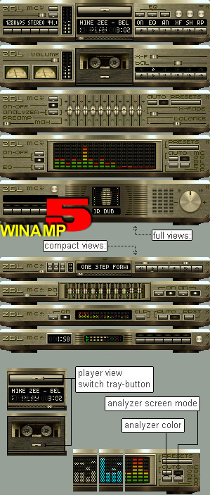 ZDL GOLD STACK for WINAMP-5 by mikezee
