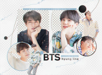 PNG PACK #9 BTS HYUNG LINE by silkedits
