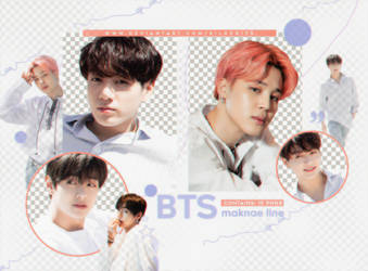 PNG PACK #10 BTS MAKNAE LINE by silkedits