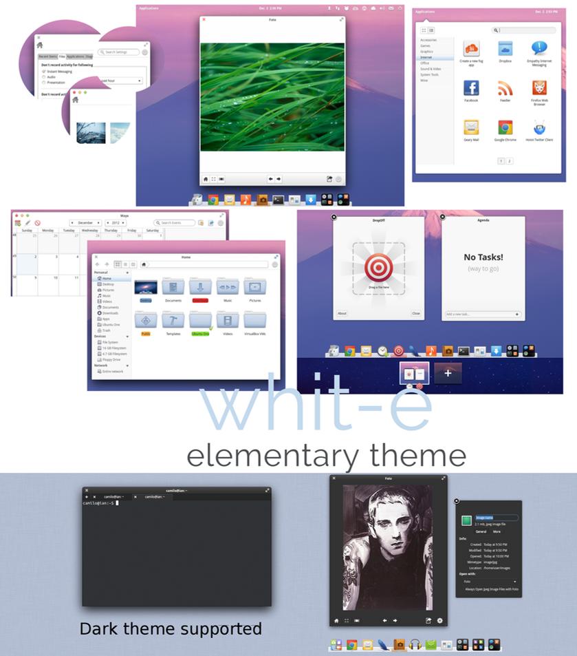 Whit-e an elementary OS theme by kxmylo