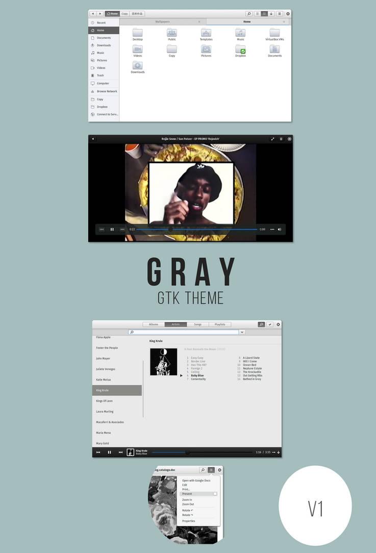 Gray - gtk theme