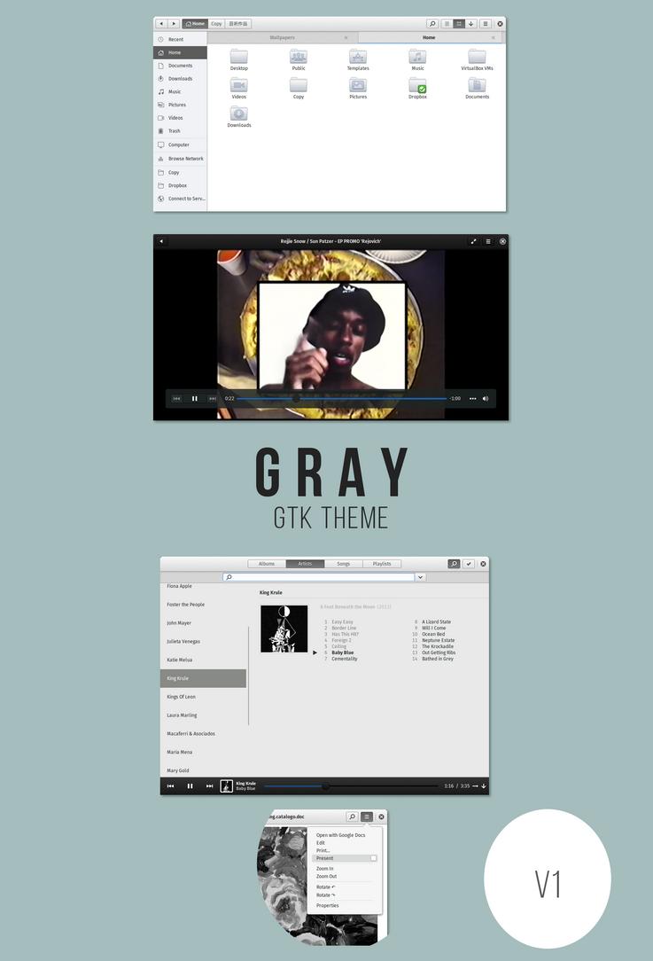 Gray - gtk theme by kxmylo