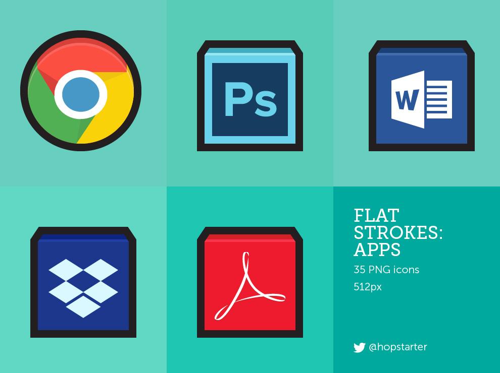 Flat Strokes Apps by hopstarter