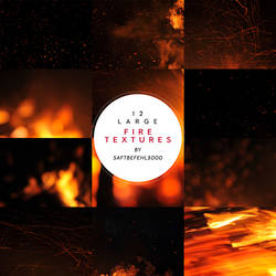 12 Large Fire Textures / 04 by saftbefehl3000