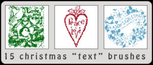 15 Christmas 'Text' Brushes