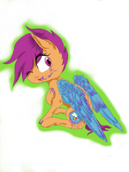 Scootaloo  pastel gore by Katie1234585
