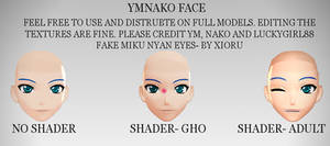 MMD- YMNako Face