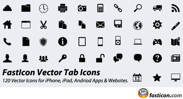 FastIcon Vector Tab Icons