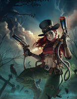 Steampunk Warrior - The Dragon Lady by SlimSpidey