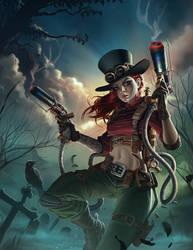 Steampunk Warrior - The Dragon Lady