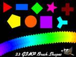23 Basic GIMP Brush Shapes (Pack 1)