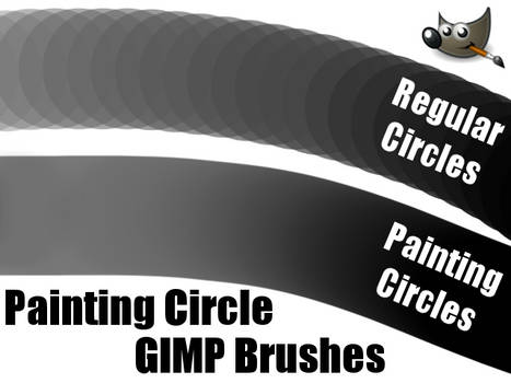 Painting Circle GIMP Brushes (For GIMP 2.6)