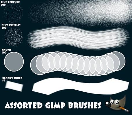 Four Assorted GIMP Brushes