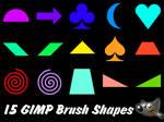 15 Basic GIMP Brush Shapes (Pack 2)