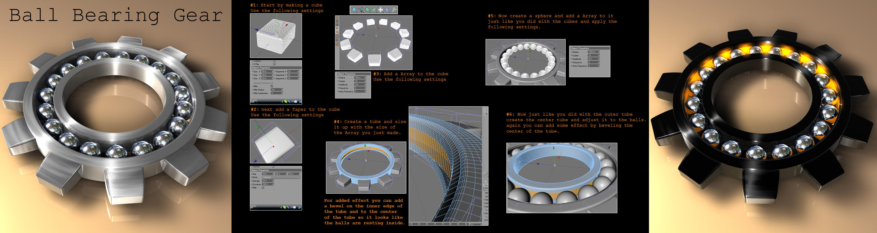 Ball Bearing Gear tutorial by R-Nader