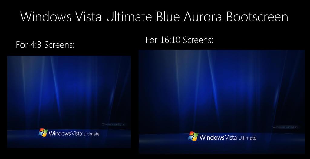 Vista Blue Aurora Boot Screen By Salmanarif