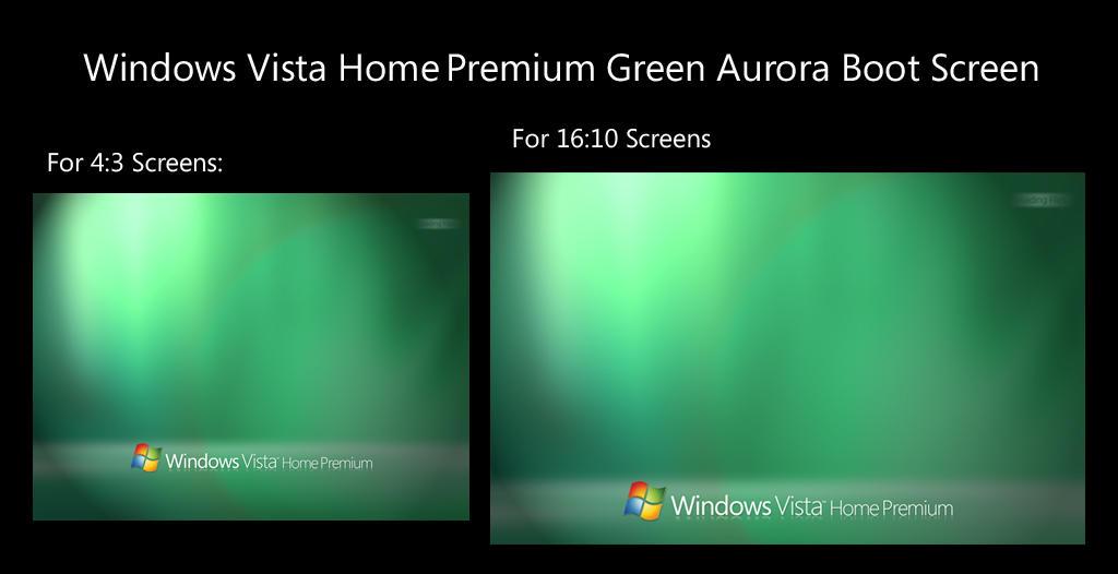 Vista Green Aurora Bootscreen By Salmanarif