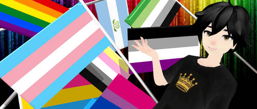 MMD Pride Flags Updated!! by RadonNic