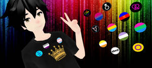 MMD Pride Buttons!! by RadonNic