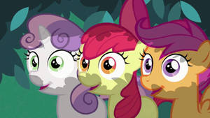 Spike and Apple Bloom Moment