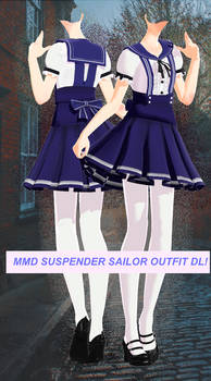 MMD Sailor suspender outfit DOWNLOAD